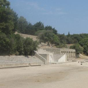 Les terrasses au sud de l'acropole de Rhodes